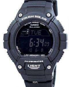 カシオ照明厳しい太陽ラップ メモリ アラーム デジタル W S220 1BV メンズ腕時計