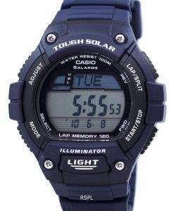 カシオ照明厳しい太陽ラップ メモリ アラーム デジタル W S220 2AV メンズ腕時計