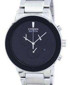 公理エコドライブ クロノグラフ AT2240 51E メンズ腕時計