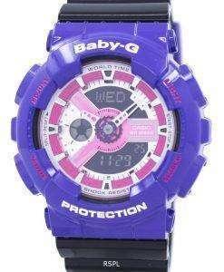 カシオベビー-G 世界時間耐衝撃性アナログ デジタル BA 110NC 6A レディース腕時計
