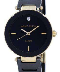 アン ・ クライン石英 1018BKBK レディース腕時計