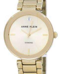アン ・ クライン石英 1362CHGB レディース腕時計