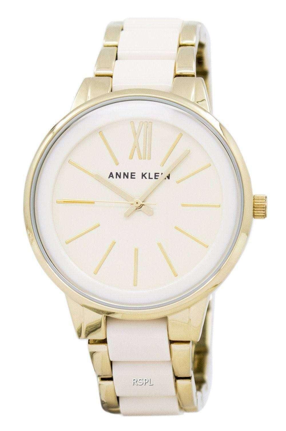 アン ・ クライン石英 1412IVGB レディース腕時計