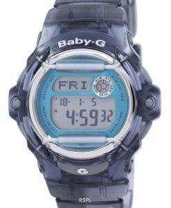 カシオベビー-G の耐衝撃性アラーム デジタル BG 169R 8B 女性の腕時計