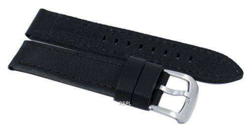 黒い比率ブランド革ストラップ SKX007、SKX009、skx011 腕時計、SNZG07、SNZG015 の 22 mm