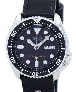 セイコー自動ダイバーズ 200 M 比黒革 SKX007K1 LS8 メンズ腕時計