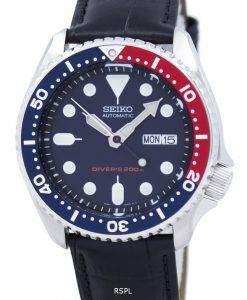 セイコー自動ダイバーズ 200 M 比黒革 SKX009K1 LS6 メンズ腕時計