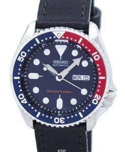 セイコー自動ダイバーズ 200 M 比黒革 SKX009K1 LS8 メンズ腕時計