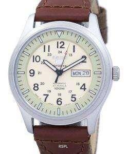 軍事自動日本製セイコー 5 スポーツ キャンバス ストラップ SNZG07J1 NS1 メンズ腕時計