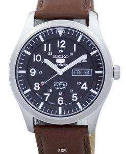 セイコー 5 スポーツ自動日本製比茶色の革 SNZG15J1 LS12 メンズ腕時計