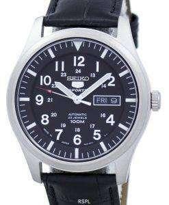セイコー 5 スポーツ自動日本製比黒革 SNZG15J1 LS6 メンズ腕時計