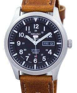 セイコー 5 スポーツ自動日本製比茶色の革 SNZG15J1 LS9 メンズ腕時計