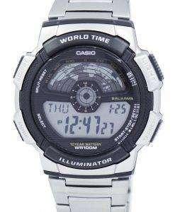 カシオ青年照明世界時間デジタル AE-1100WD-1AV AE1100WD-1AV メンズ腕時計