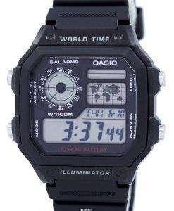 カシオ青年照明世界時間アラーム AE-1200WH-1AV AE1200WH-1AV メンズ腕時計