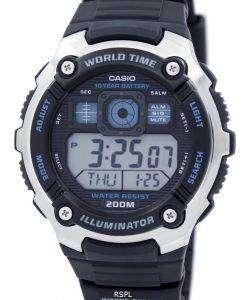 カシオ青年照明世界時間アラーム AE 2000 w 1AV AE2000W-1AV メンズ腕時計