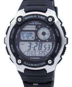 カシオ青年照明世界時間デジタル AE-2100W-1AV AE2100W-1AV メンズ腕時計