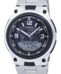 カシオ世界時間データバンク アナログ デジタル AW 80 D 1A2V = オンライン AW80D 1A2V メンズ腕時計
