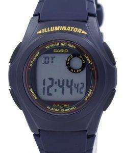 カシオ照明デュアル タイム アラーム クロノ F-200 w-2ASDF F200W 2ASDF メンズ腕時計