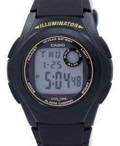 カシオ照明デュアル タイム アラーム クロノ F-200 w-9ASDF F200W 9ASDF メンズ腕時計