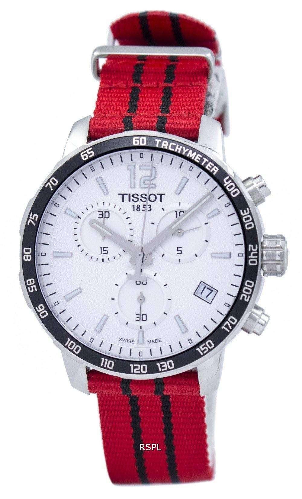 ティソ Quickster NBA シカゴ ブルズ クロノグラフ T095.417.17.037.04 T0954171703704 メンズ腕時計