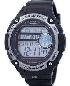 カシオ青年照明世界時間デジタル AE 3000 w 1AV AE3000W-1AV メンズ腕時計