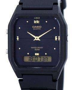 カシオ青年デュアル タイム アナログ デジタル クオーツ ダブリュ-48HE-1AV AW48HE-1AV メンズ腕時計
