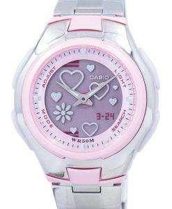 カシオ Poptone 世界時間アナログ デジタル LCF 10 D 4AV LCF10D 4AV レディース腕時計