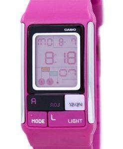 カシオ Poptone デュアル タイム アラーム デジタル LDF-52-4 a LDF52 4 a レディース腕時計