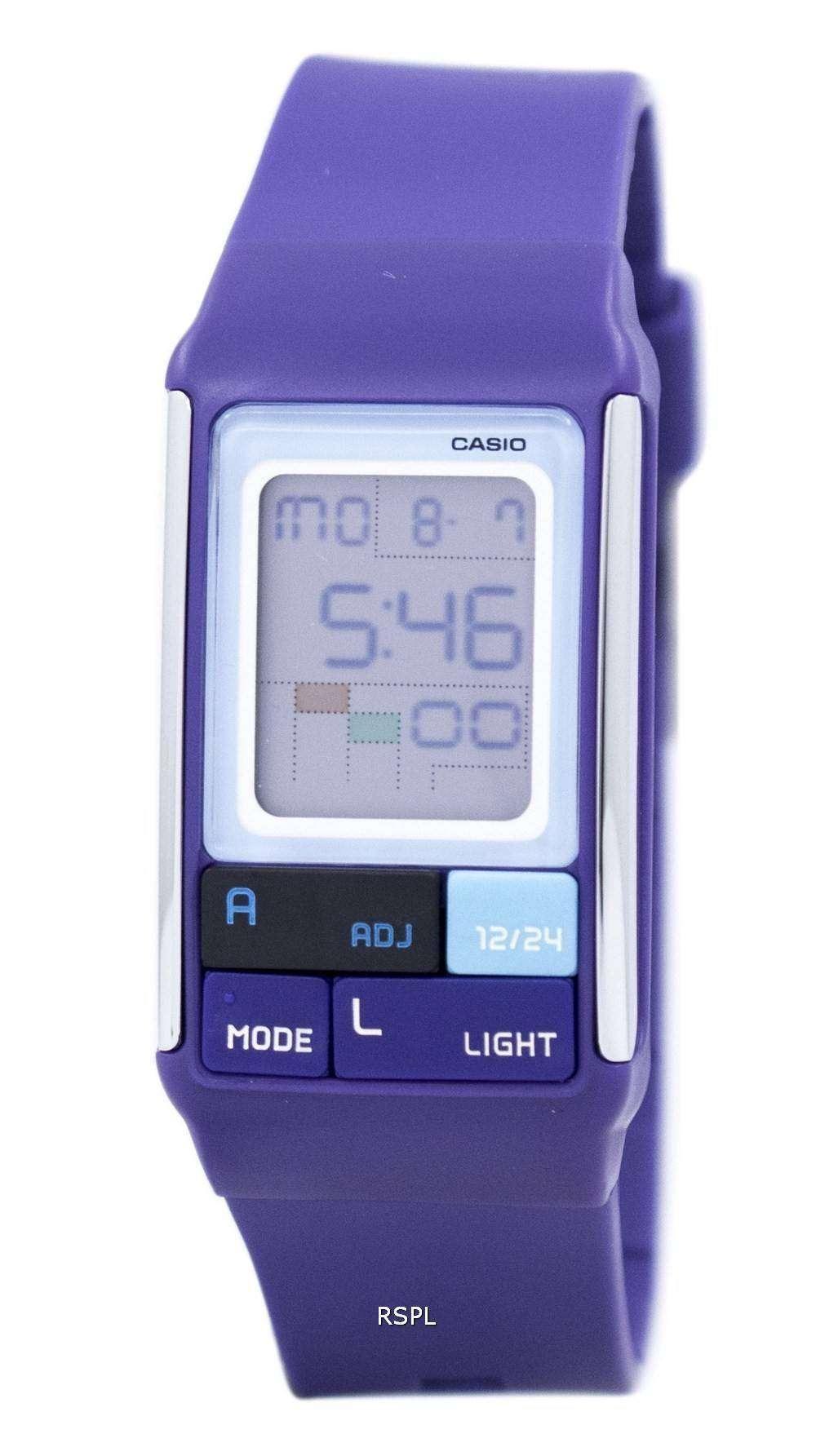 カシオ Poptone デュアル タイム アラーム デジタル LDF 52 6A LDF52 6A レディース腕時計