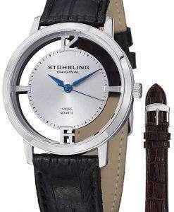 Stuhrling ウィンチェ スターのカテドラル水晶 388 2。SET.01 メンズ腕時計