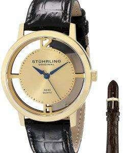Stuhrling ウィンチェ スターのカテドラル水晶 388 2。SET.02 メンズ腕時計