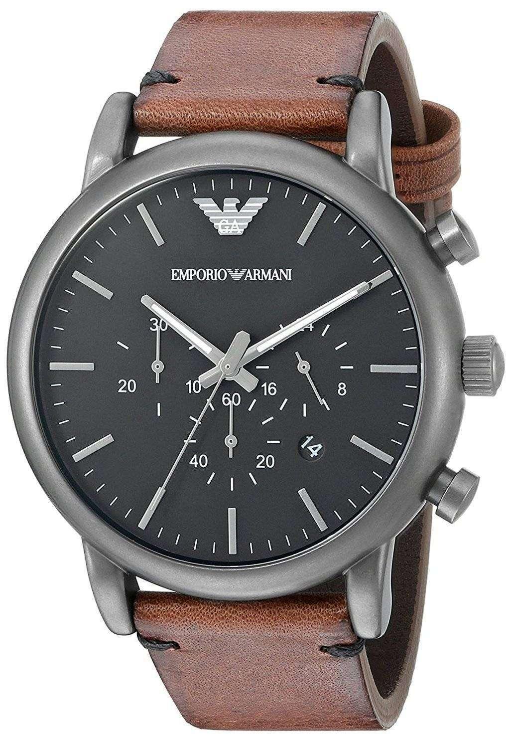 エンポリオ アルマーニ クロノグラフ クォーツ AR1919 メンズ腕時計