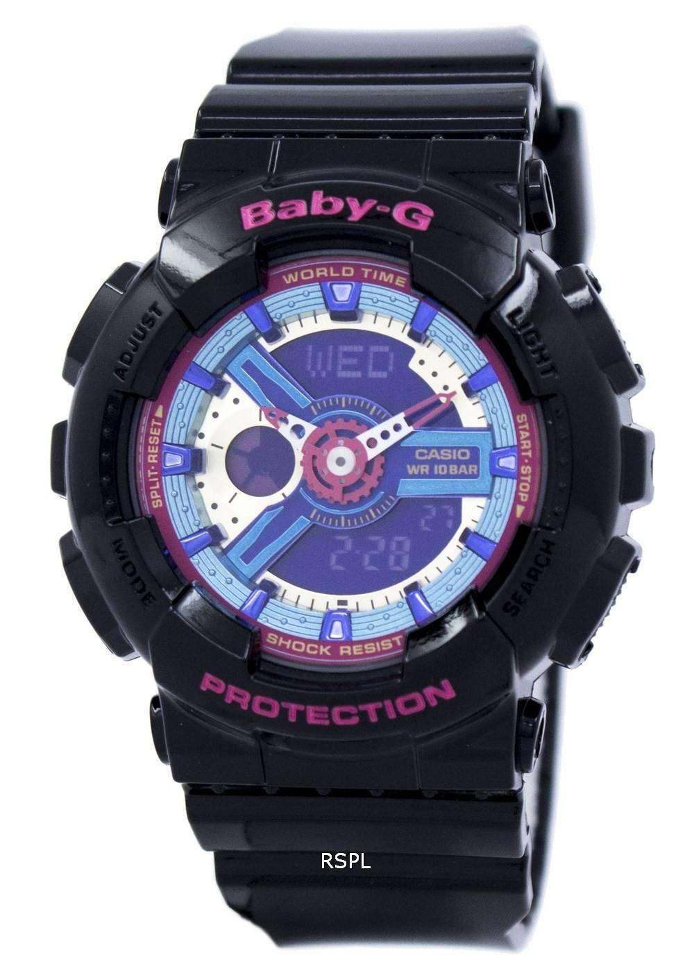 カシオベビー-G 世界時間アナログ デジタル多色ダイヤル BA-112-1 a レディース腕時計