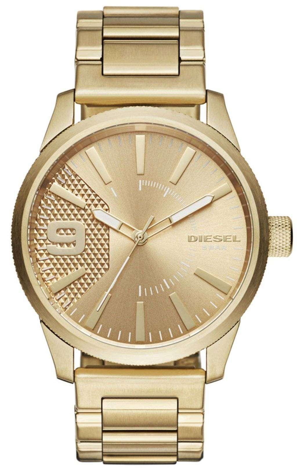ディーゼルの時間枠の石目やすり石英 DZ1761 メンズ腕時計