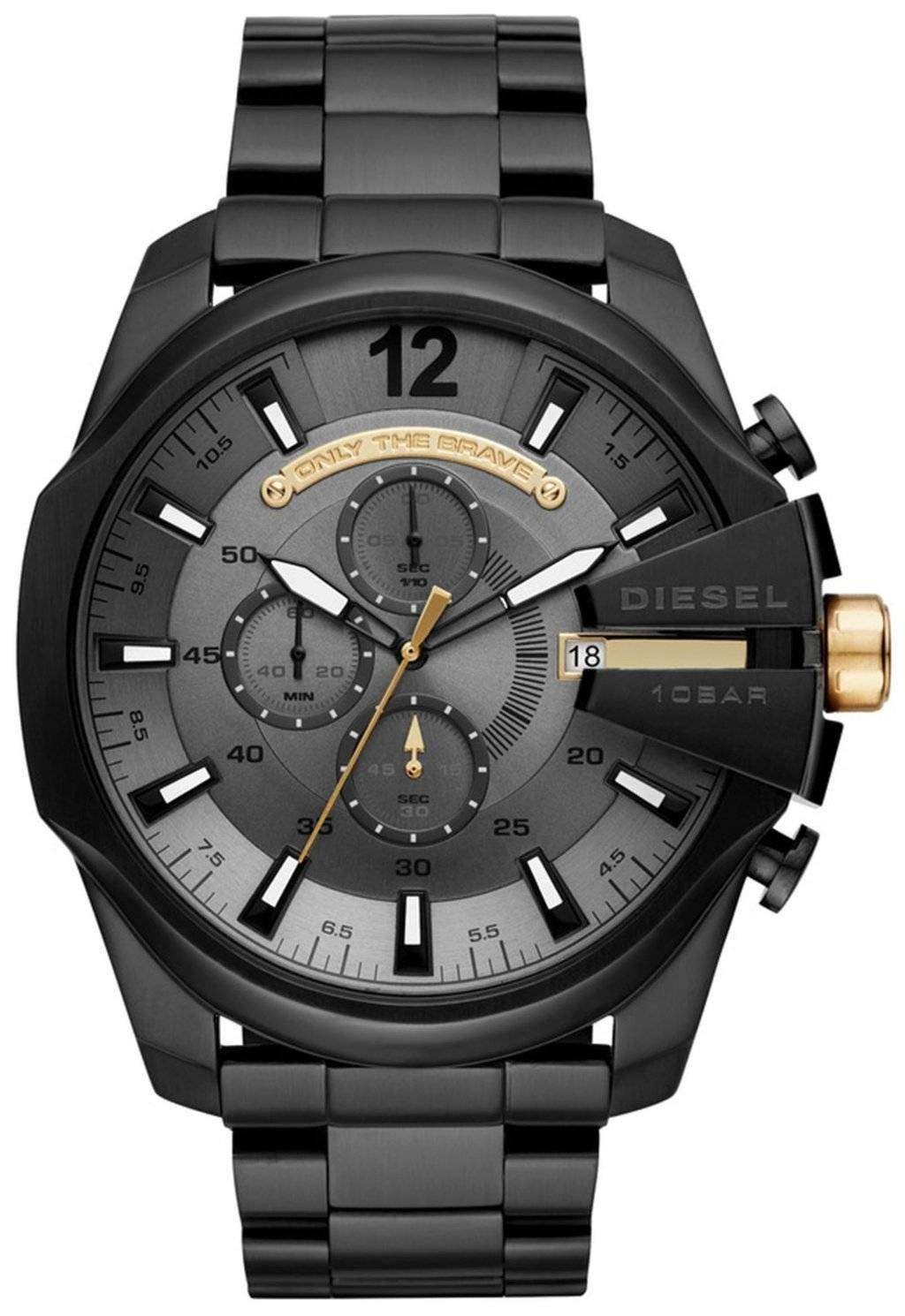 ディーゼルの時間枠メガ チーフ クロノグラフ クォーツ DZ4479 メンズ腕時計