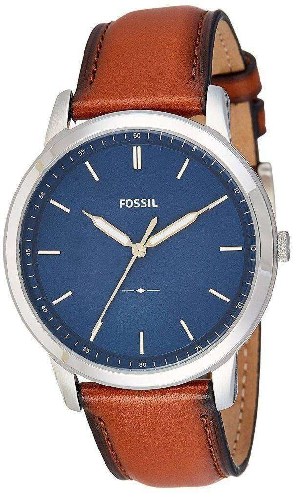 化石 3 H のシンプルなスリム石英 FS5304 メンズ腕時計