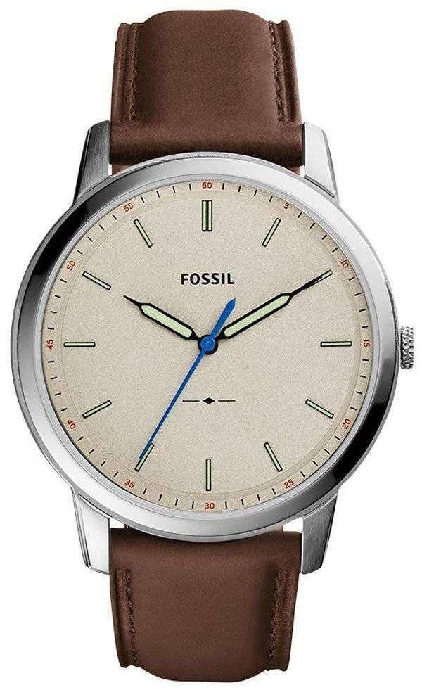 化石シンプルなスリム 3 H 石英 FS5306 メンズ腕時計