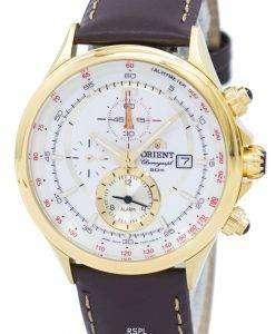 オリエント クロノグラフ タキメーター アラーム クオーツ FTD0T001N0 メンズ時計