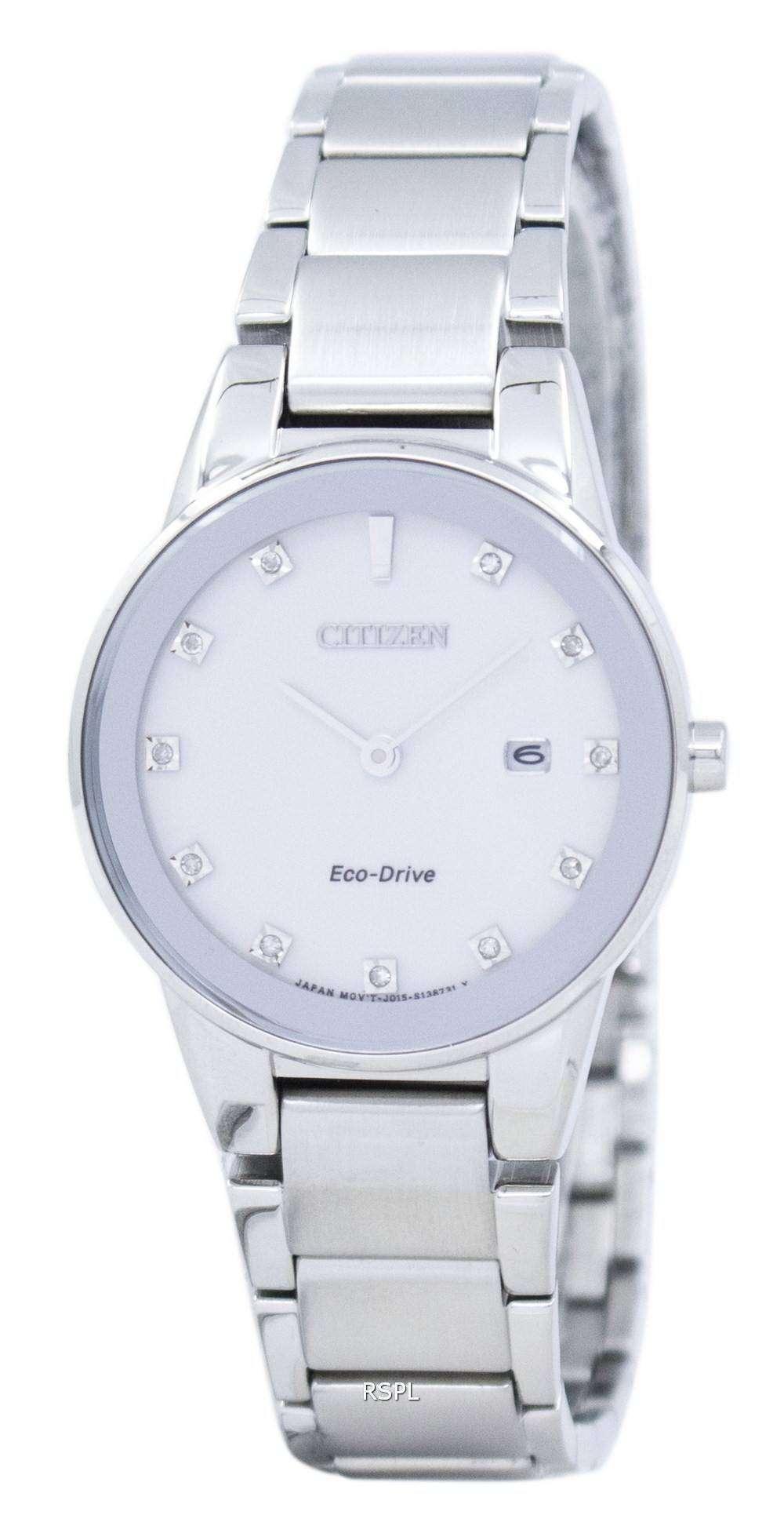 シチズンエコ ドライブ公理ダイヤモンド アクセント GA1050 51B レディース腕時計