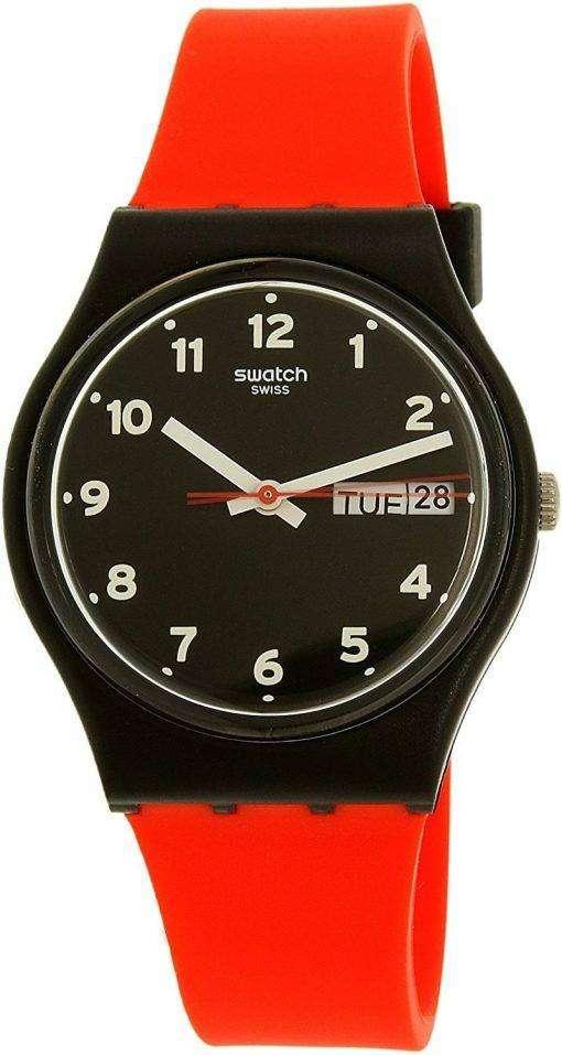 スウォッチ オリジナル赤笑顔クオーツ GB754 ユニセックス腕時計