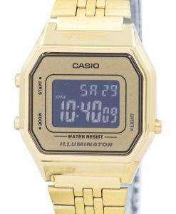 カシオ青年ビンテージ照明アラーム デジタル LA680WGA 9B レディース腕時計