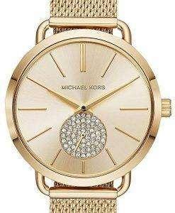 ミハエル Kors ポーシャ水晶ダイヤモンド アクセント MK3844 レディース腕時計