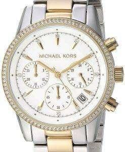 ミハエル Kors リッツ クロノグラフ クォーツ ダイヤモンド アクセント MK6474 女性の腕時計