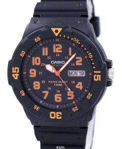 カシオ石英アナログ ブラック ダイヤル MRW 200 H 4BVDF MRW 200 H 4BV メンズ腕時計