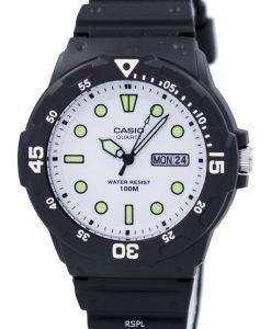 カシオ石英アナログ ブラック ダイヤル MRW 200 H 7EVDF MRW-200 H-7 EV メンズ腕時計
