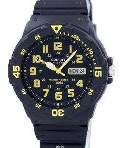 カシオ石英アナログ ブラック ダイヤル MRW 200 H 9BVDF MRW 200 H 9BV メンズ腕時計