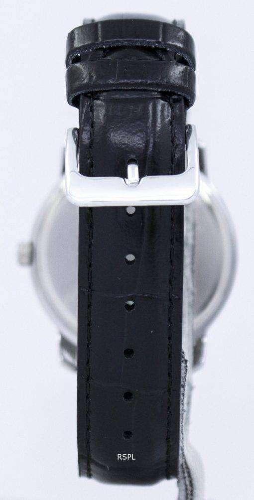 カシオ Enticer クォーツ革マルチ ダイヤル ストラップ MTP 1192E 1ADF MTP-1192E-1 a メンズ腕時計