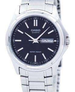 カシオ Enticer 石英アナログ ブラック ダイヤル MTP 1239 D 1ADF MTP-1239 D-1 a メンズ腕時計
