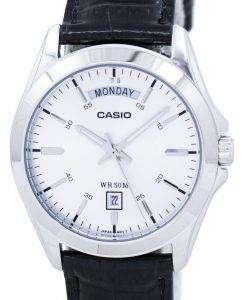 カシオ アナログ シルバー ダイヤル MTP 1370 L 7AVDF MTP 1370 L 7AV メンズ腕時計