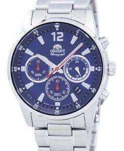 オリエント スポーツ クロノグラフ クォーツ日本製 RA KV0002L00C メンズ腕時計